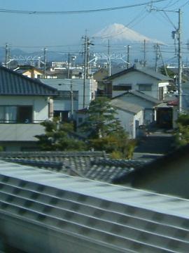 A席からの富士山