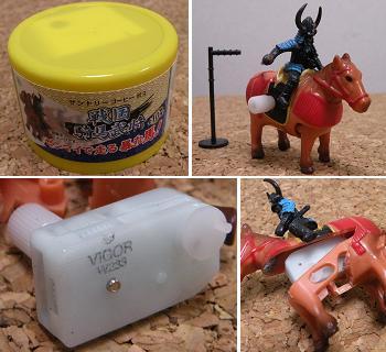 戦国騎馬武将 ゼンマイで走る暴れ馬