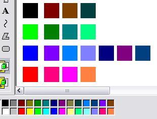 カラージップ中間色