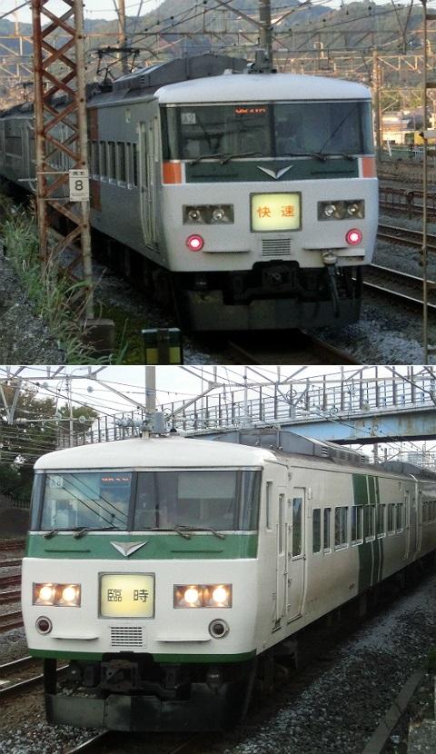 東海道本線 185系 快速「湘南国際マラソン号」 1号/3号 2014