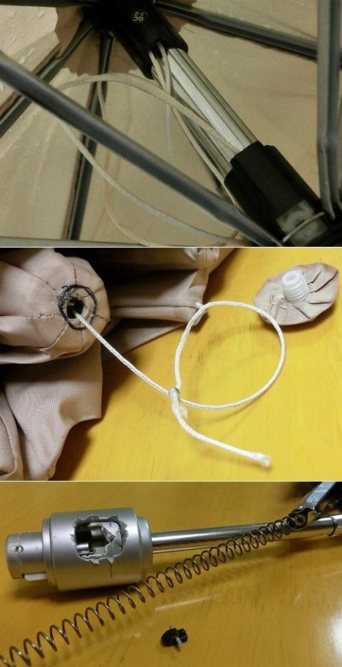 開かなくなった 自動開閉3段折り畳み傘