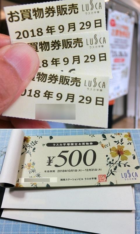 ラスカ平塚店限定お買物券販売 2018