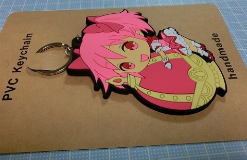 鹿目まどか PVC Keychain handmade