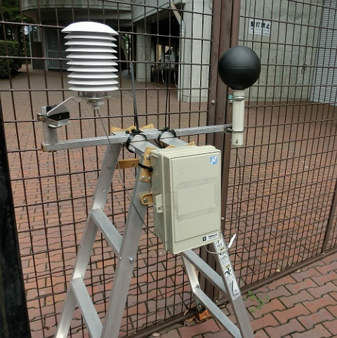 WBGT測定器 @Shonan BMW スタジアム平塚(平塚競技場)