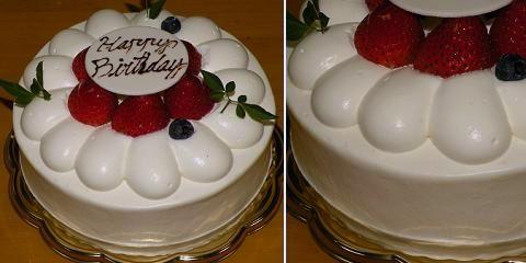 アンセプス 生クリームデコレーションケーキ