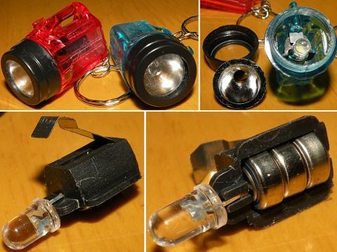 1灯LEDミニ懐中電灯