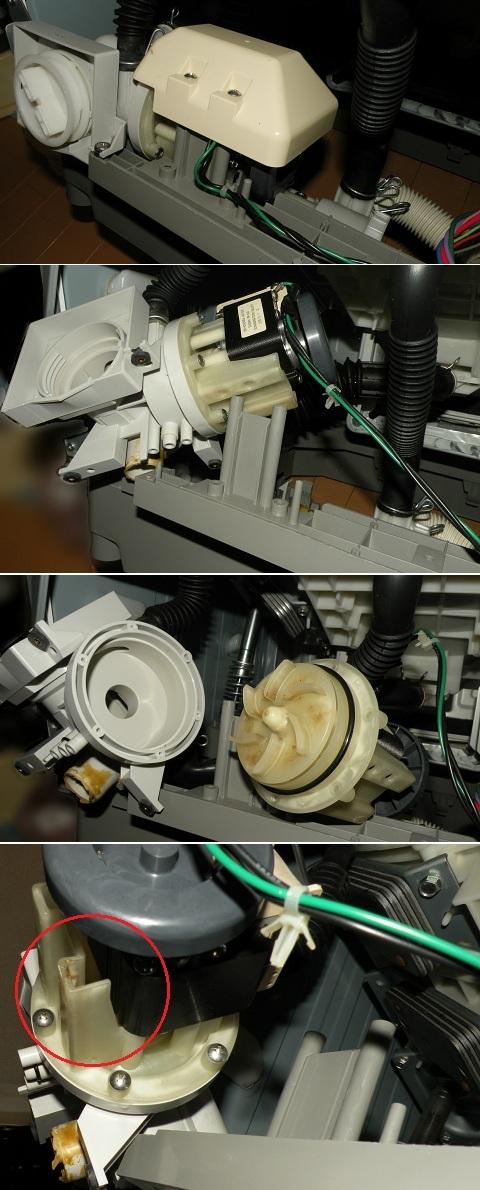 東芝 ドラム式洗濯乾燥機TW-130VB 循環ポンプからの水漏れ