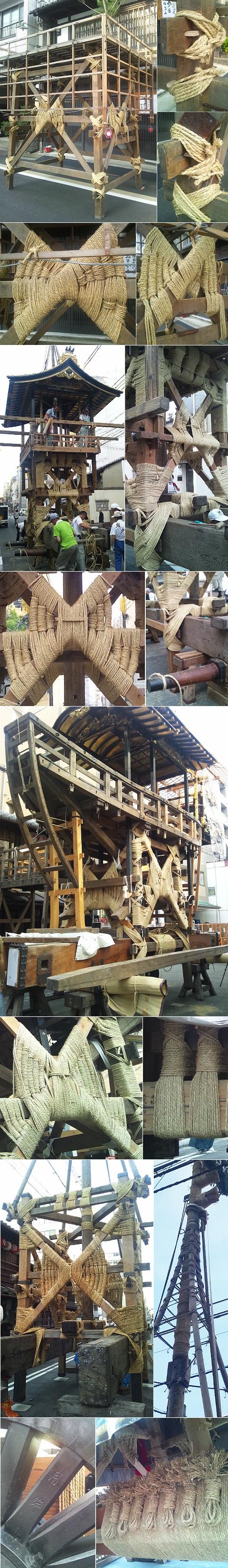 祇園祭2013_山建て鉾建て