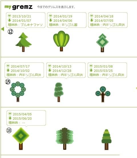 グリムス(gremz) 植林 13-17本目