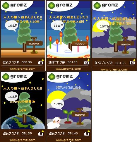 16本目の大人の樹&17本目発芽 gremzグリムス