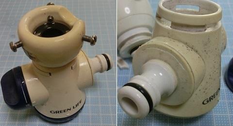 シャワー付き蛇口コネクター二又タイプ SJC-01D 水漏れ・・・