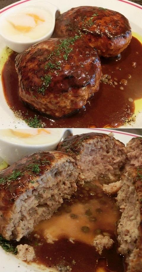 肉バルMARCO(マルコ)で ダブルハンバーグランチ