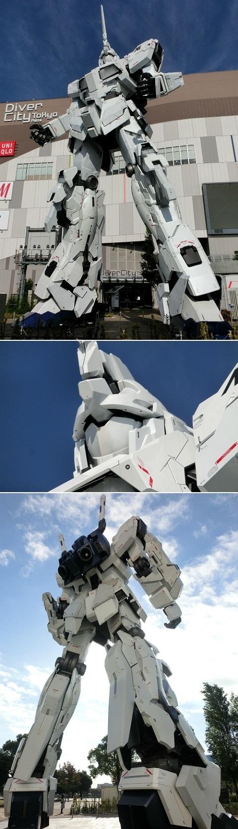ダイバーシティ東京プラザ 実物大ユニコーンガンダム立像