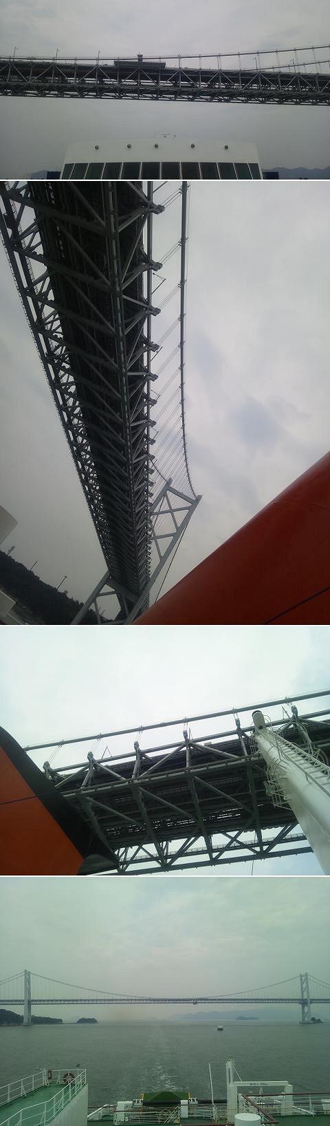 瀬戸内ワンナイトクルーズ 四国オレンジフェリー 大橋通過