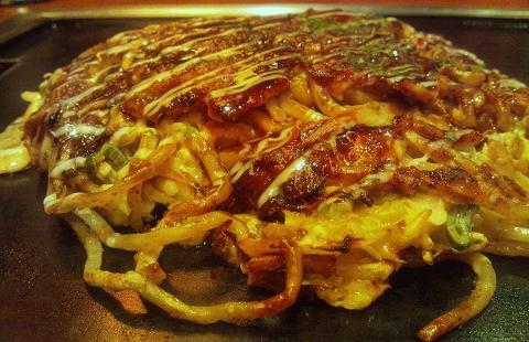 お好み焼きは ここやねん 高槻駅前店 「豚キムチ玉 モダン仕立て」