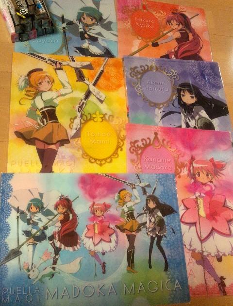 ローソン 魔法少女まどか☆マギカ キャンペーン 先着プレゼント クリアファイル