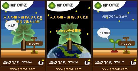9本目の大人の樹&10本目発芽 gremzグリムス